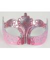 Venetiaanse oogmaskers barok goud en roze