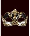 Venetiaanse maskers met muzieknoten zwart/wit